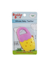 Buddyboo Soft Silicone Baby Teether - Yellow And Voilet (143021)