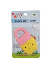 Buddyboo Soft Silicone Baby Teether - Yellow And Pink (143020)