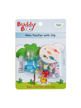 Buddyboo Baby Pacifier With Clip - Blue (143011)
