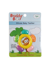Buddyboo Circle Shaped Silicone Baby Teether - Yellow (143024)
