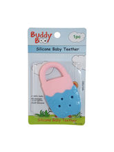 Buddyboo Soft Silicone Baby Teether - Blue And Pink (143019)