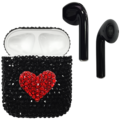 APPLE AIRPODS SWAROVSKI CRYSTAL EDITION,  black red heart