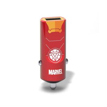 TRIBE MONO USB CAR CHARGER 2.4A IRON MAN,  red