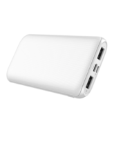MYCANDY 10K MAH SLIM DUAL USB OUTPUT AND TYPE C INPUT/OUTPUT POWERBANK,  white