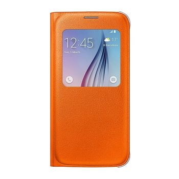 SAMSUNG GALAXY S6 LEATHER SVIEW,  orange