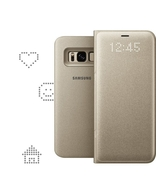 LED VIEW COVER FOR SAMSUNG GALAXY S8,  gold