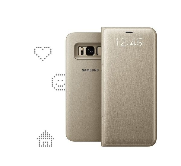 new concept 9e799 efa20 LED VIEW COVER FOR SAMSUNG GALAXY S8, gold
