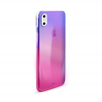 PURO IPHONE X BACK CASE HOLOGRAM,  pink