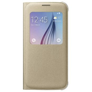 SAMSUNG GALAXY S6 FABRIC SVIEW,  gold