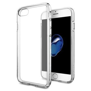 SPIGEN IPHONE 8 PLUS BACK CASE ULTRA HYBRID CRYSTAL CLEAR