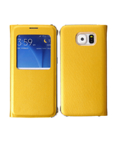 SAMSUNG GALAXY S6 LEATHER SVIEW,  yellow