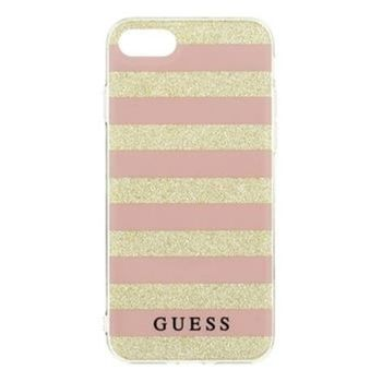 GUESS IPHONE 7 / IPHONE 8 BACK CASE WITH STRIPES,  pink