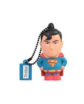 TRIBE USB Flash Drive 16GB Superman,  blue