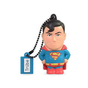 TRIBE USB FLASH DRIVE 16GB SUPERMAN,  blue