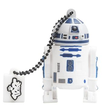 TRIBE USB FLASH DRIVE 16GB STAR WARS R2D2,  white