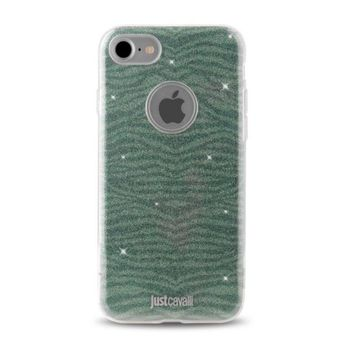 JUST CAVALLI IPHONE 7 / IPHONE 8 TPU BACK CASE LEO ZEBRA,  green