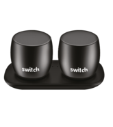 SWITCH WS1 2 X 3W TRUE WIRELESS SPEAKERS BLACK,  black