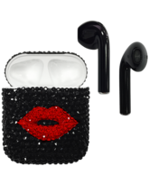 APPLE AIRPODS SWAROVSKI CRYSTAL EDITION,  black red lips