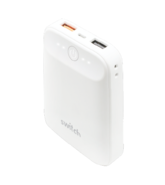 SWITCH 10, 000 MAH DUAL USB POWER BANK WITH QC 3.0 QUICKCHARGE MATTE FINISH,  white