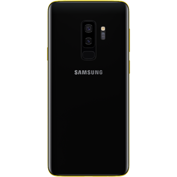 24K GOLD PLATED SAMSUNG GALAXY S9 PLUS DUAL SIM,  black