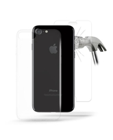 2 in 1 Puro ''0.3 NUDE'' Ultra Slim Cover+ Tempered GlassTransparent