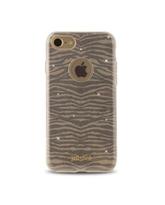 JUST CAVALLI iPhone 7 TPU Back Case Leo Zebra,  gold