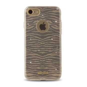 JUST CAVALLI IPHONE 7 / IPHONE 8 TPU BACK CASE LEO ZEBRA,  gold