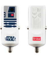 TRIBE MONO USB CAR CHARGER 2.4A R2D2,  blue