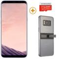 SAMSUNG GALAXY S8 PLUS with 128GBCard and KickTok Cover,  grey