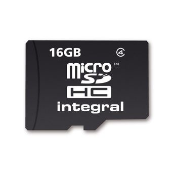 INTEGRAL 16GB MICRO SD IN RETAIL PACKING C4