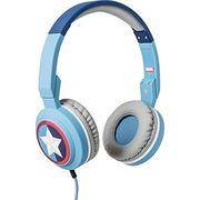 TRIBE ON EAR STEREO HEADSET CAPTAIN AMERICA,  blue