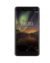 NEW NOKIA 6 2018 4G LTE 32GB DUAL SIM,  black copper