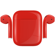 APPLE AIRPODS PAINTED SPECIAL EDITION,  ferrari, gloss