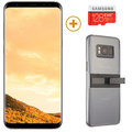 SAMSUNG GALAXY S8 PLUS with 128GBCard and KickTok Cover,  gold