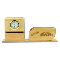 Radiusin G 3 Compartments Wooden Pen Stand