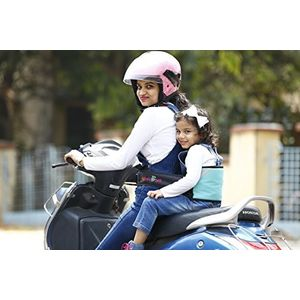 KID SAFE BELT - Two Wheeler Child Safety Belt - World's 1st Trusted & Leading (Sport Sky Blue), blue