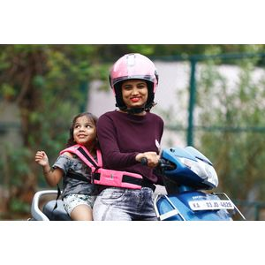 KIDSAFEBELT - Two Wheeler Child Safety Belt - World's 1st, Trusted & Leading (Air Pink), pink