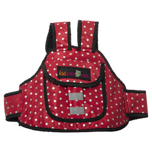 KIDSAFE BELT - Two Wheeler Child Safety Belt - World's 1st, Trusted & Leading (Cool Red Dots), red