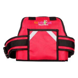 KIDSAFE BELT - Two Wheeler Child Safety Belt - World's 1st, Trusted & Leading (Cool UK Red New Plain), red