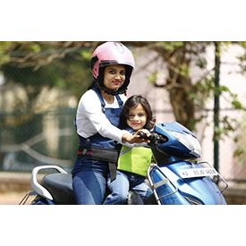 KID SAFE BELT - Two Wheeler Child Safety Belt - World s 1st Trusted & Leading (Sport Parrot Green), green