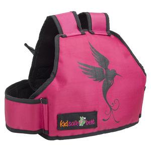KIDSAFE BELT - Two Wheeler Child Safety Belt - World's 1st, Trusted & Leading (Cool Pink Bird Of Paradise), pink