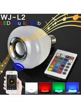 WJ-L2 Bluetooth 6W Led Rgb Light Bulb Music Speaker With Remote And B22 Adapter
