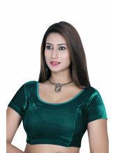 Gargi Ladies Short Sleeve Velvet Lycra Blouse (OGBL-120-P. GREEN), m