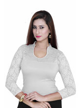 Gargi Ladies Blouse With 4-Way Stretch Body Having 3/4Th Sleeve (OGBL-580-OFF. WHITE), m