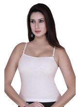 Gargi Ladies Ribbed Cotton Lycra Camisole (OGSL-18-SONALI-SKIN), l