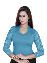Gargi Ladies Blouse With 4-Way Stretch Body Having 3/4Th Sleeve (OGBL-580-FIROZI), m