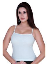 Gargi Ladies Ribbed Cotton Lycra Camisole (OGSL-18-SONALI-WHITE), l