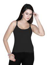 Gargi Ladies Cotton Knitted Camisole (OGSL-16-AAYUSHI-BLACK), l