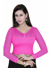 Gargi Ladies Blouse With 4 Way Stretch Having 3/4Th Sleeve (OGBL-680-RANI), m