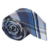 Blue Preppy Check Tie